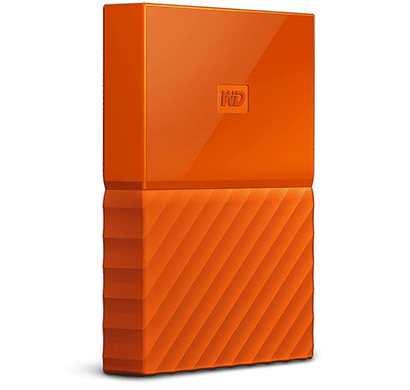 WD My Passport 1TB USB 3.0 Portable External Hard Drive (Orange)